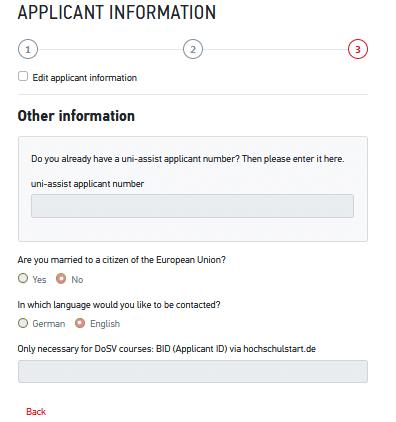Uni Assist - Registration and Login 5