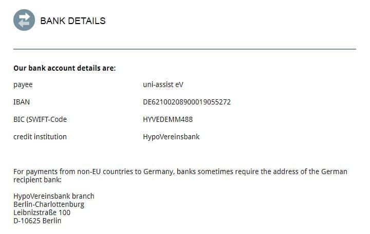 Uni-Assist Procedure for Payment and Sending Application | MS in Germany