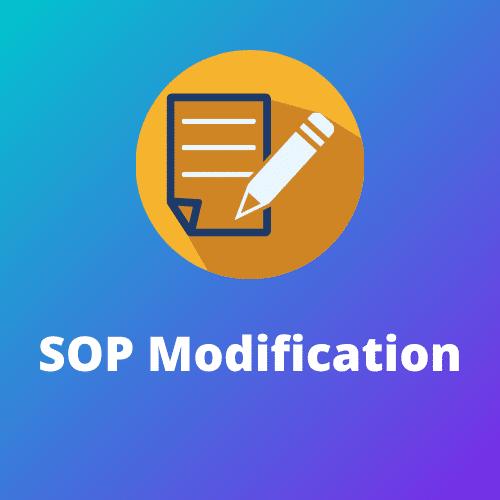 SOP Modification