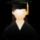 Graduate-female-icon